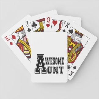Awesome Aunt in Black Playing Cards