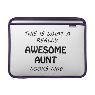 Awesome Aunt MacBook Sleeve