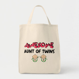 AWESOME Aunt of TWINS Tote Bag