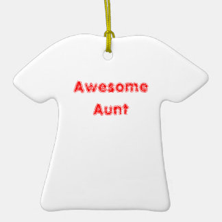 Awesome Aunt Christmas Tree Ornament