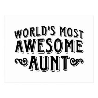 Awesome Aunt Postcard