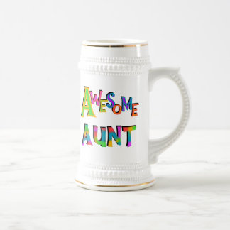 Awesome Aunt T-shirts and Gifts Beer Stein