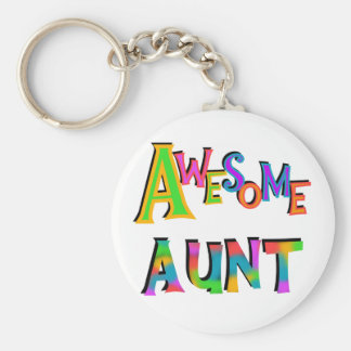 Awesome Aunt T-shirts and Gifts Keychain