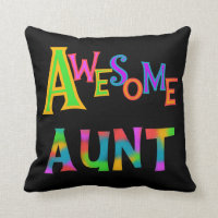 Awesome Aunt T-shirts and Gifts Throw Pillow