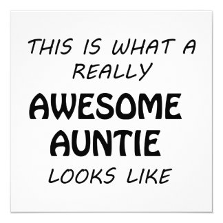 Awesome Auntie Card