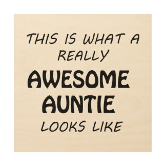 Awesome Auntie Wood Wall Art