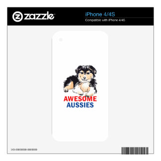 AWESOME AUSIIES DECALS FOR iPhone 4