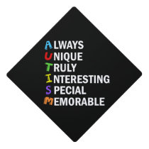 Awesome Autism Acrostic Graduation Cap Topper