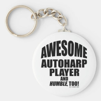 Awesome Autoharp Player Keychain