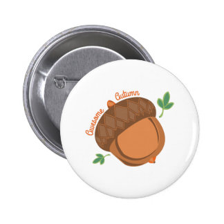 Awesome Autumn 2 Inch Round Button