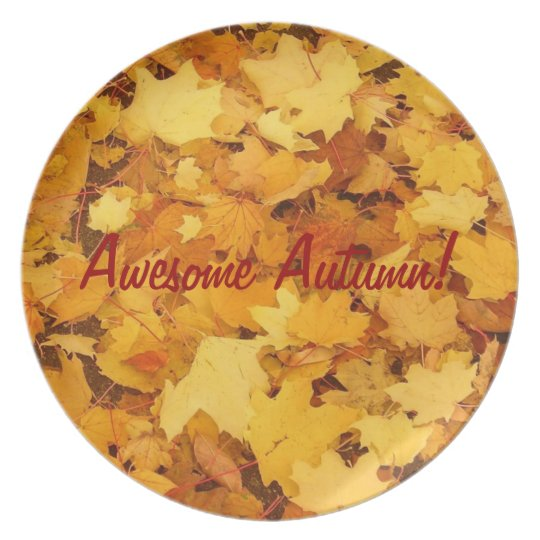 Awesome Autumn Decorative Plate! Dinner Plate