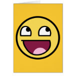 awesome /b/ smiley face greeting card