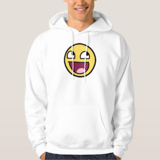 awesome /b/ smiley face hoodie