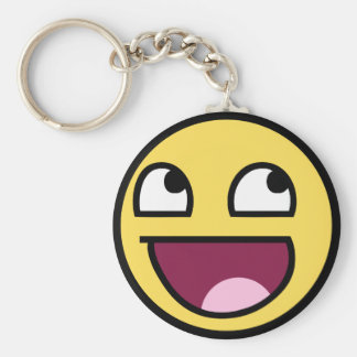 awesome /b/ smiley face keychain