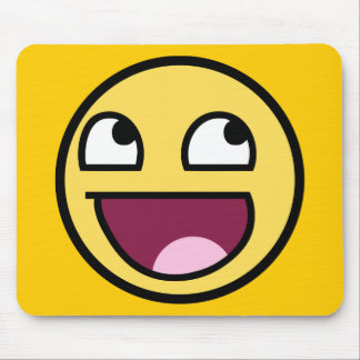 awesome /b/ smiley face mouse pad