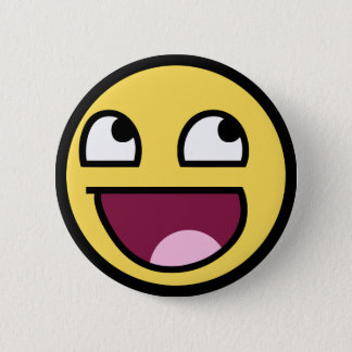 awesome /b/ smiley face pinback button
