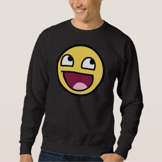 awesome /b/ smiley face sweatshirt