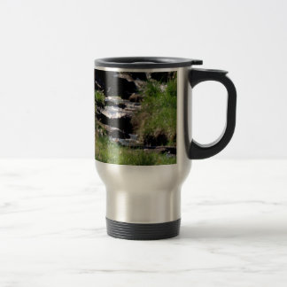 Awesome Babbling Brook in Spring Art Photo Travel Mug