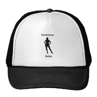 awesome babe trucker hat