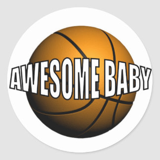 AWESOME BABY CLASSIC ROUND STICKER