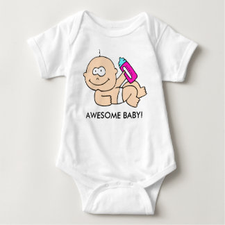 """Awesome Baby"" New Baby Girl Infant T-Shirt"
