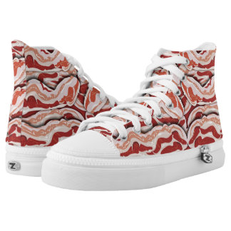 Awesome Bacon Time Printed Shoes