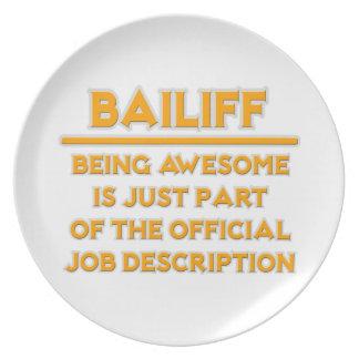 Awesome Bailiff .. Official Job Description Party Plate