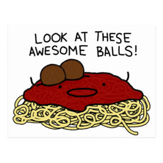 Awesome Balls Postcard