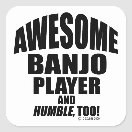Awesome Banjo Player Square Sticker