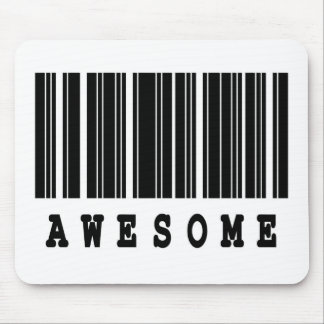 awesome barcode design mouse pad