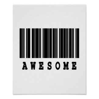 awesome barcode design poster
