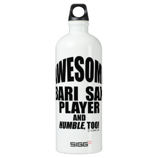 Awesome Bari Sax Player Aluminum Water Bottle