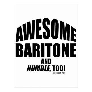 Awesome Baritone Post Card