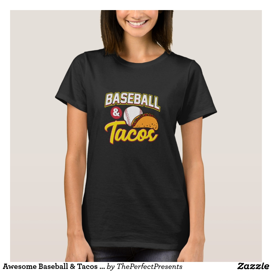 Awesome Baseball & Tacos for Baseball Players T-Shirt - Best Selling Long-Sleeve Street Fashion Shirt Designs