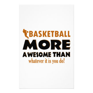 Awesome basketball designs stationery