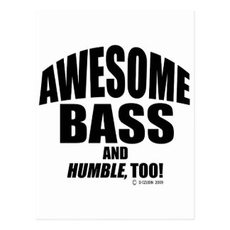 Awesome Bass Postcard
