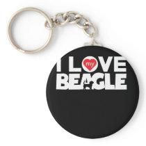 Awesome Beagle Design I Love My Beagle No Frame Keychain