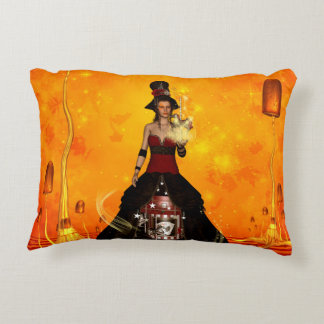 Awesome beautiful fantasy women accent pillow