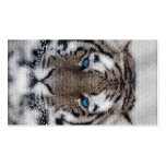 Awesome beautiful tiger blue eyes stained glass business cards