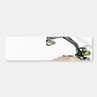 Awesome Big Green Construction Excavator #4 Car Bumper Sticker