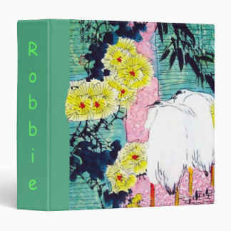 Awesome Binder with Vintage Nature Motif