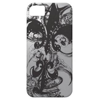 Awesome Black Fleur De Les iPhone 5 Cases