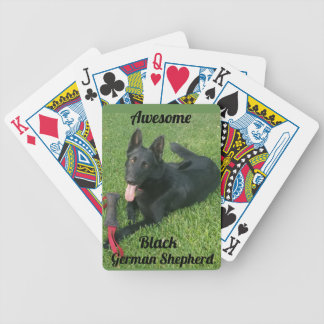 Awesome Black German Shepherd Playing Cards