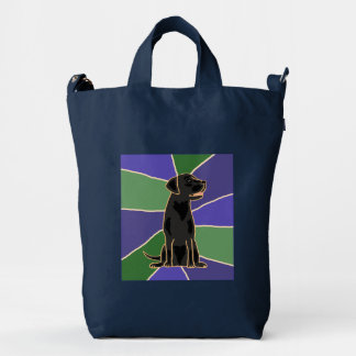 Awesome Black Labrador Retriever Art Bag