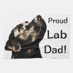 Awesome Black Labrador Retriever Hand Towel