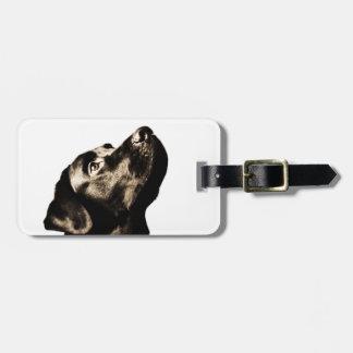 Awesome Black Labrador Retriever Tag For Bags