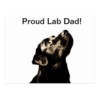 Awesome Black Labrador Retriever Postcard