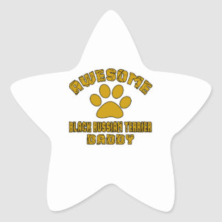 AWESOME BLACK RUSSIAN TERRIER DADDY STAR STICKER