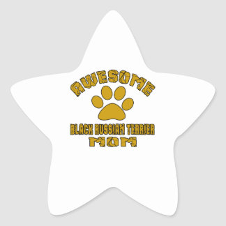 AWESOME BLACK RUSSIAN TERRIER MOM STAR STICKER
