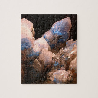 Awesome Blue Crystals Jigsaw Puzzle